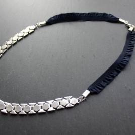 Headband Audacieuse argenté et biais H02