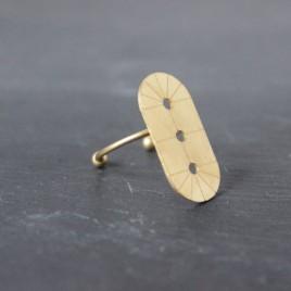 Bague ALMA laiton doré réglable BA05