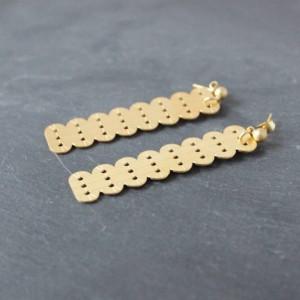 boucles d'oreilles pendantes alma vous mademoiselle laiton doré or fin 24 carats