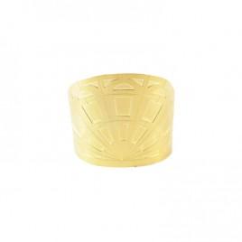 bracelet manchette alma vous mademoiselle laiton dore or fin