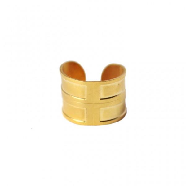 bague réglable laiton doré or fin 24 carats alma vous mademoiselle