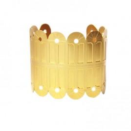 bracelet manchette geometrique art deco alma vous mademoiselle laiton dore or fin 24 carats