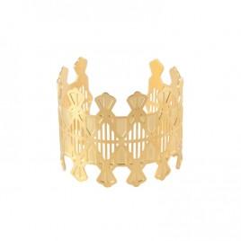 Bracelet manchette Lyne laiton doré