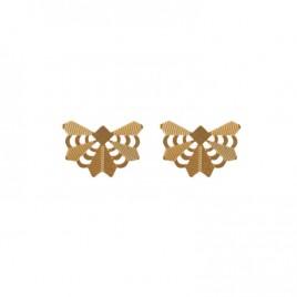 Boucles d'oreilles mini Zulma laiton doré