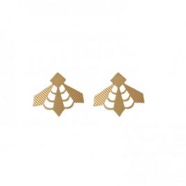 Boucles d'oreilles puces Zulma laiton doré