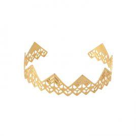 Bracelet jonc Edmée laiton doré