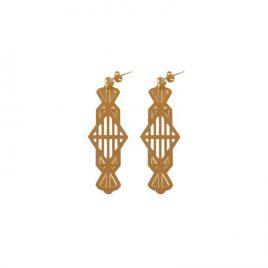 Boucles d'oreilles pendantes LYNE laiton doré