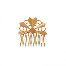 Peigne à cheveux Zulma laiton doré