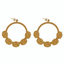 Boucles d'oreilles créoles dorées Armance