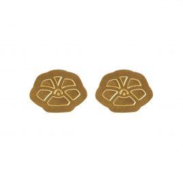 Boucles d'oreilles puces dorées Armance