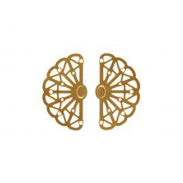 Boucles d'oreilles puces dorées Vera