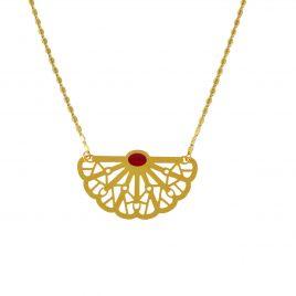 Collier petit pendentif doré Vera