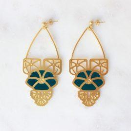 Boucles d'oreilles pendantes dorées Armance