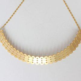 Collier grand pendentif Alma or pâle