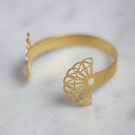 Bracelet jonc ouvert doré Vera